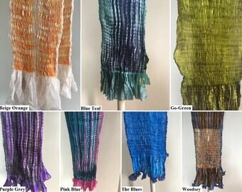 Silk Shiboori Multi-Colored Scarves
