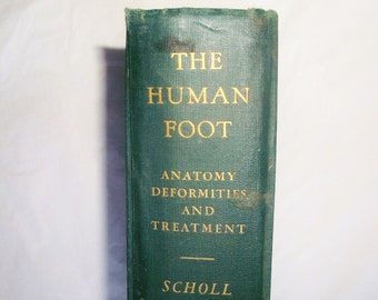 Vintage 1931 book THE HUMAN FOOT by William M. Scholl • Anatomy, Physiology, Mechanics, Deformities and Treatment