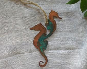 Seahorse Ornament: Copper and Copper