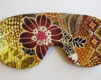 Tropical Print Sleep mask, Floral Sleep Mask, Adjustable Strap Sleeping Mask, Flower Sleep Mask, Floral Eye Mask