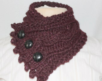 Fisherman's Wife Cowl, Chunky Knit Cowl, Cable Knit Cowl, Color Galaxy, Women's Cowl