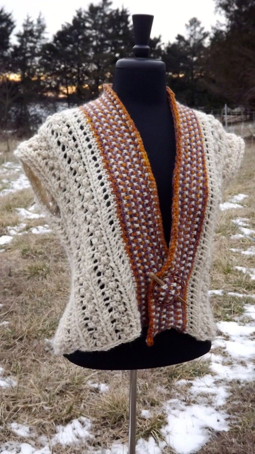 Berries & Lace Vest-Knitting Pattern for Hilltop Shetland Yarn from ...