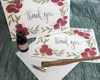 Spring Floral Thank You Cards (Pack of 5)