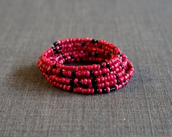 Pink and Black Slinky Bracelet