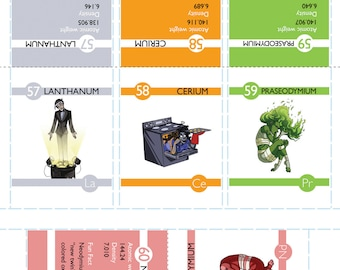 Make Your Own - Elements Flashcards! (PDF PART 2)