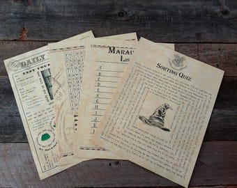 Printable HP Wizard Party Games & Quizzes