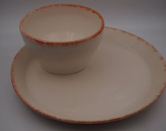 Ceramic All in One Soup and Sandwich Bowl and Plate Combo/Chip and Dip Platter & Ceramic All in One Soup and Sandwich Bowl and Plate Combo/Chip