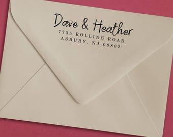 Personalized Couple Address Stamp, Addres Stamp for Couples