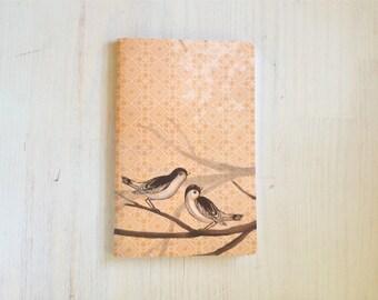 Large Notebook: Birds, Orange, Wedding, Favor, Notebook, Unlined, Journal, For Her, For Him, Gift, Unique, Blank Journal, Geometric, L8-030