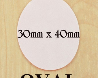 Sale-OVAL 30mm x 40mm SEALS Buy One Get One Free- Receive 20 for the price of 10 Photo Safe Adhesive Seals for Photo Glass Jewelry DIY