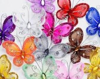 Organza Butterflies & Butterfly Wings