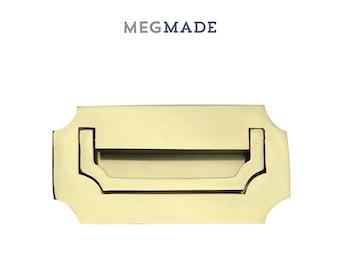 Polished Brass Campaign Dresser Handle