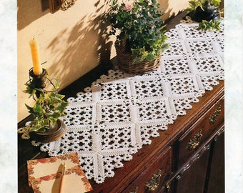 crochet runner pattern Crochet pattern Pdf crochet motif thread crochet cotton diamond pattern table runner
