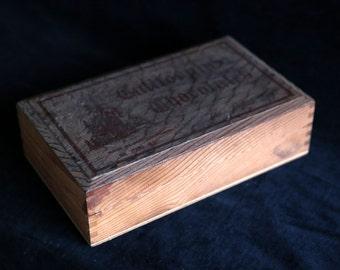 "Vintage timber ""california chocolates"" box"