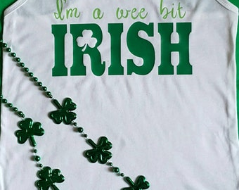 St Patrick's Day custom shirt.  Wee Bit Irish!