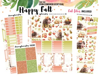 Printable Planner Stickers for Erin Condren, Planner Printable Stickers, Fall Planner Stickers, Erin Condren Weekly Kit Vertical Sticker Kit