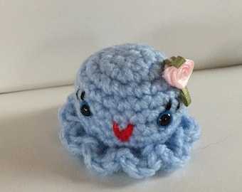 Hand Crocheted Tiny Little Octopus - Amigurumi - made to order