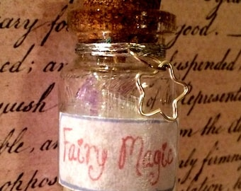 Fairy Magic Bottle Necklace - Bottle Jewelry, Blacklight/UV Reactive Magic in Every Bottle!