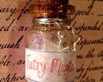 Fairy Magic Bottle Necklace - Bottle Jewelry, Blacklight/UV Reactive Magic in Every Bottle!