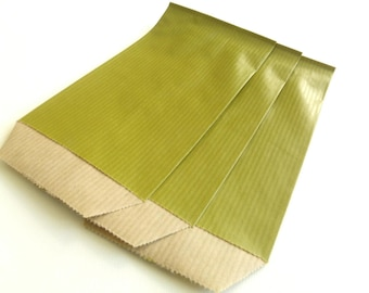 10 7 cm * 12 cm Kraft Olive Green gift bags pouches
