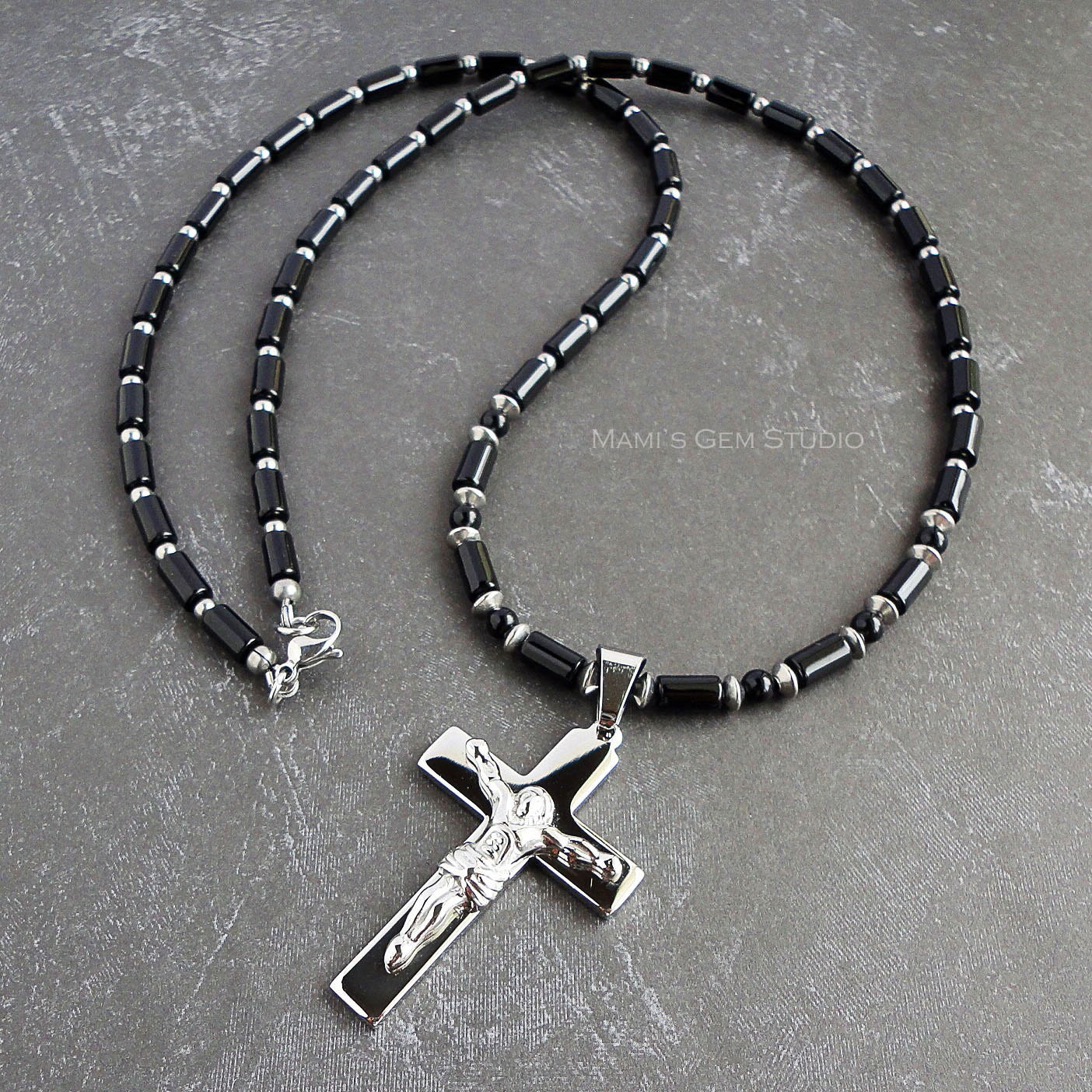 black cross onyx wolf with spirit marcasite necklaces chains necklace designs
