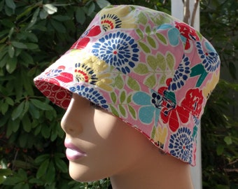 Womens Chemo Hat Bucket Hat Cancer Hat  Made in the USA  SMALL - MEDIUM