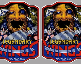 Legendary Wings Arcade Cabinet Graphics For Reproduction Side Art