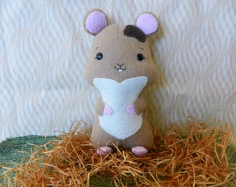 Felt Hamster Softie Plushie Doll by Noialand