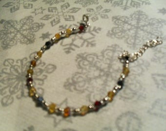 trendy, original, colorful Bracelet (silver, yellow, Brown, red and black)
