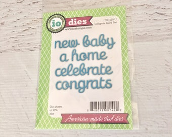 Impression Obsession, io die, congrats word set, for card making, scrapbooking, paper crafting, mixed media,