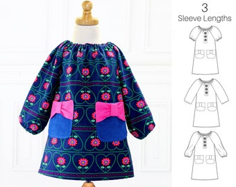 Girls Sewing Pattern pdf, Girls Dress Pattern, Peasant Dress Pattern, Childrens Sewing Pattern, Baby Sewing Pattern, POPPY