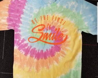 Be the first to smile black light reactive t-shirt
