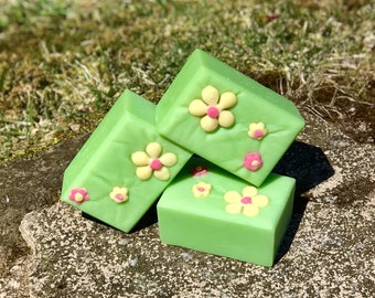 Flower Power - Handmade All Natural Soap with Kaolin Clay and Aloe