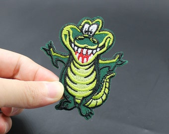 Alligator Iron On Patch Embroidered patch 6.1x7.1cm - PH128