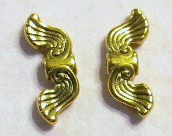 Angel Wings - Adorable - Gold - Tibetan Style - 100 pcs. - Lead Free - Cadmium Free -  Nickel Free