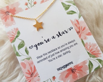 You're a star Charm Necklace