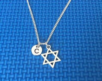 Star of David necklace ,Jewelry, Silver Jewelry, star of david jewelry, CP12