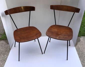McCobb StyleChairs, Arthur Umanoff,Herman Miller Eames, Molded Plywood, Circa 1950, MCM, TWO chairs,