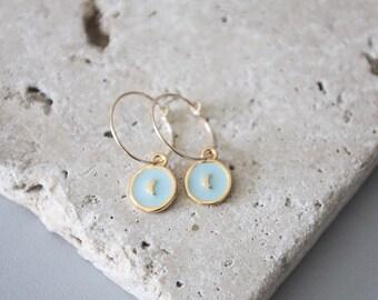 Moonstone 14 k gold plated earrings / Moon earrings / moon earrings