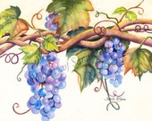 """Notecard """"Grapes"""" by Sandi McGuire"""