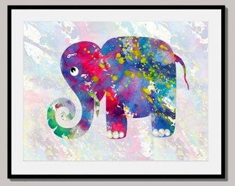 ELEPHANT art home decor nursery art kids room art animals art elephant in the wind art