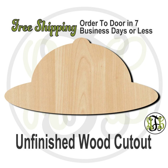 Safari Hat - 24207- Cutout, unfinished, wood cutout, wood craft, laser cut shape, wood cut out, Door Hanger, wooden, ready to paint