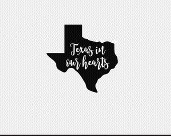 texas in our hearts svg dxf jpeg png file stencil monogram frame silhouette cameo cricut clip art commercial use