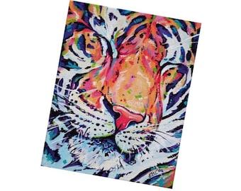 Fridge Magnet, Tiger, Tiger decor, Kitchen Decor, Small gift