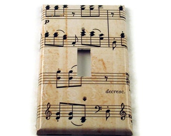 Light Switch Cover Wall Decor Switchplate Switch Plate in Symphony   (157S)