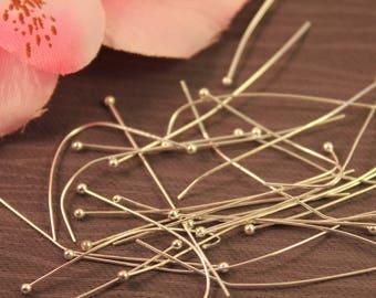 Lot 50 nails SC12820 45mm silver ball head pins-