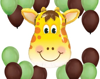 Jolly Giraffe Balloon Bouquet - Balloon Kit for a Baby Shower or Birthday Party