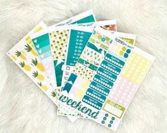 HUGE SALE! Tropical Summer Planner Kit (for Vertical Erin Condren Life Planner)