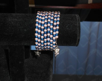 Memory bracelet blue and pink