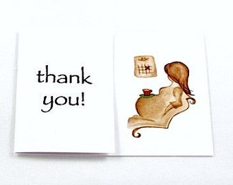 Baby Shower Thankyou Cards 10pk 'Counting Days'